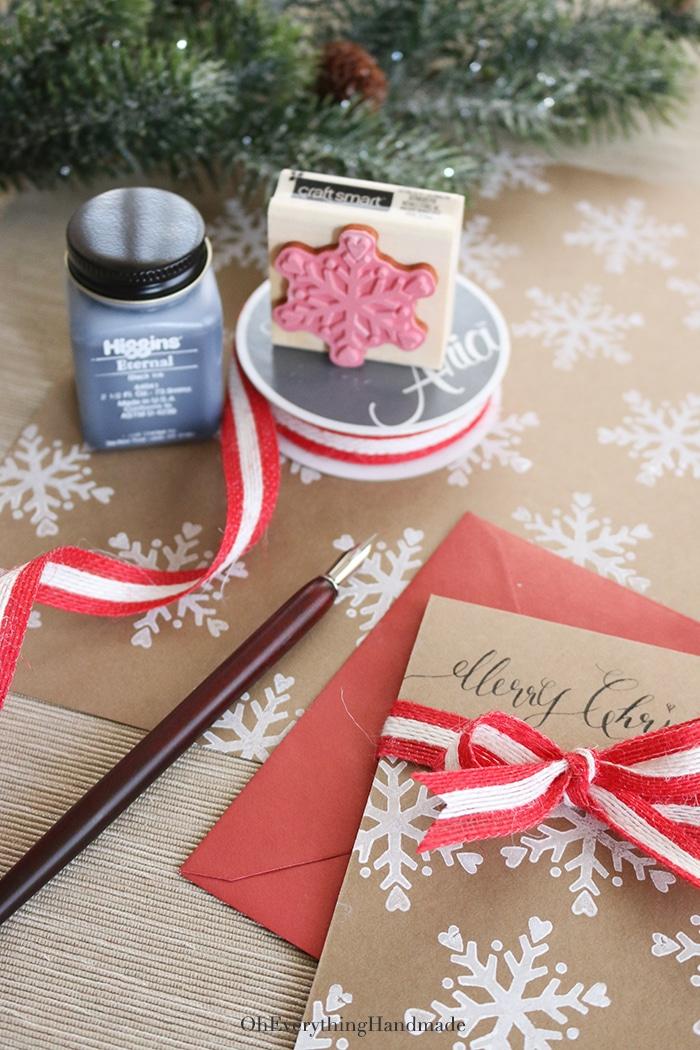 Ribbon Bow Christmas Card Items