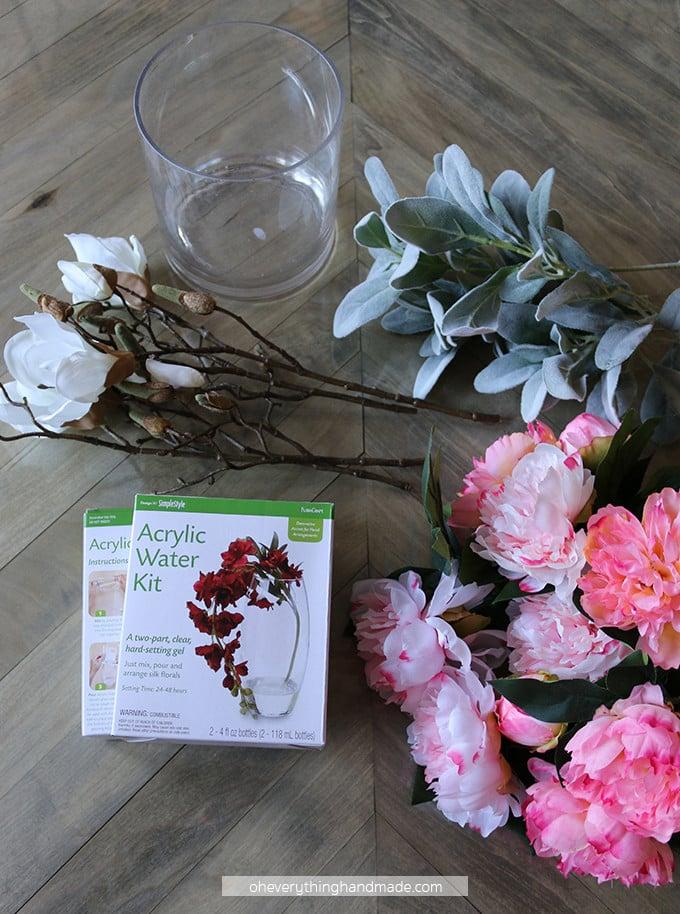 Faux Floral Centerpiece Material