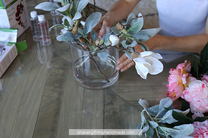 Faux Floral Centerpiece by Oheverythinghandmade6