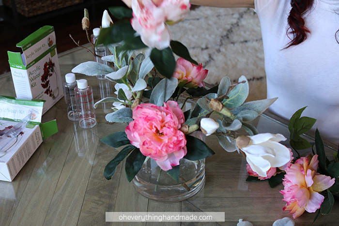 Faux Floral Centerpiece by Oheverythinghandmade7