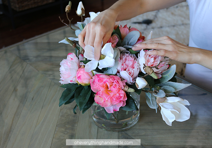 Faux Floral Centerpiece by Oheverythinghandmade8