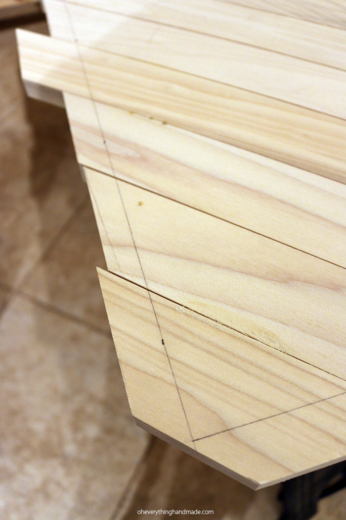 Herringbone Hairpin Leg Coffee Table Via