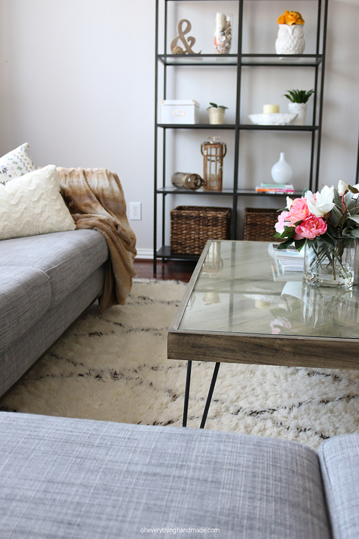 herringbone hairpin leg coffee table. Black Bedroom Furniture Sets. Home Design Ideas