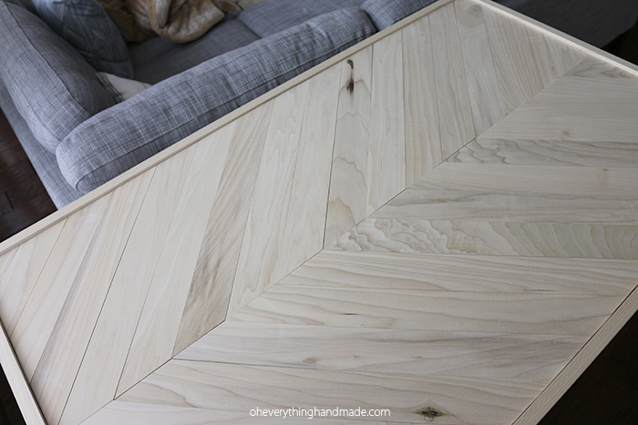 Herringbone Hairpin Leg Coffee Table Via