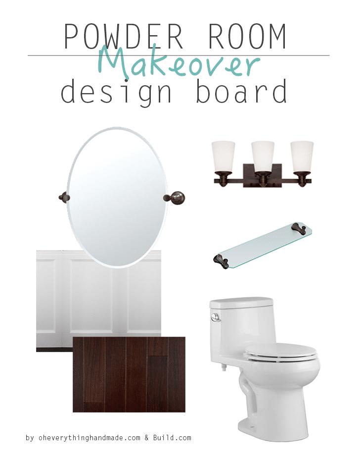 The Powder Room Makeover - Design Board