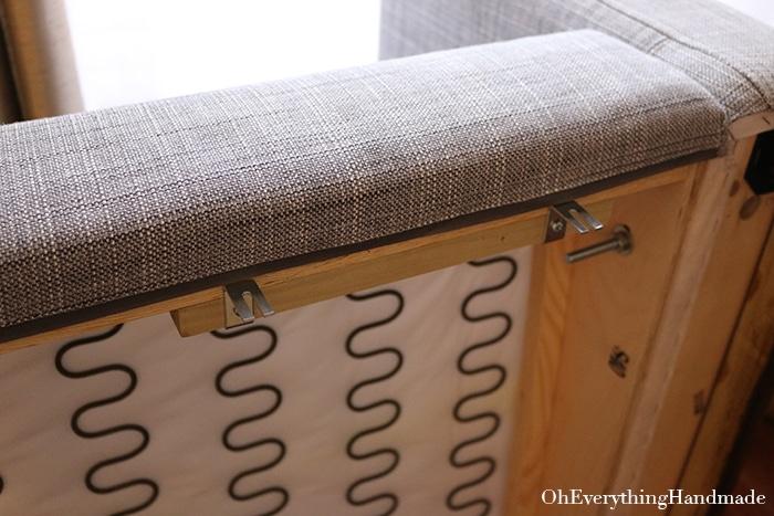 Ikea Karlstad Tapered leg and skirt tutorial- attach the skirt board 1