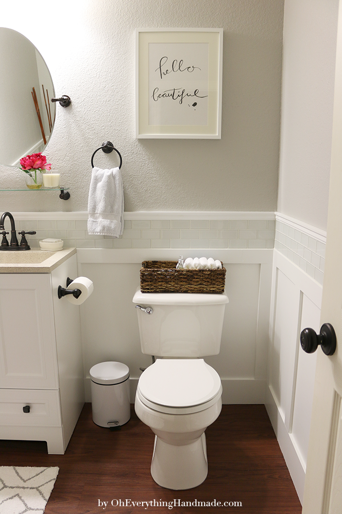 Powder Room Reveal Bathroom Makeover