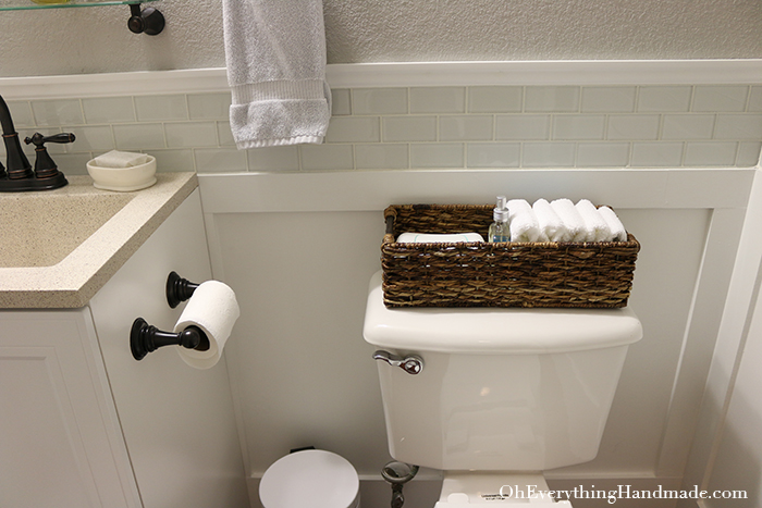 Powder Room Reveal-Decor