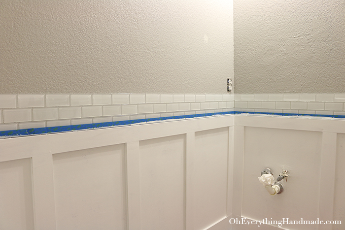 Powder Room Reveal-Paint walls