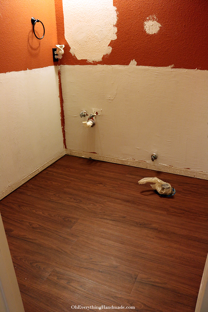 Powder Room Reveal-installed allure flooring