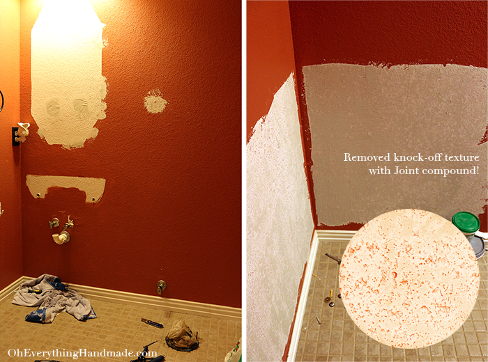 Powder Room Reveal_Removed texture with joint compound