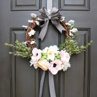 Romantic Spring Bloom Wreath by OEH1-700