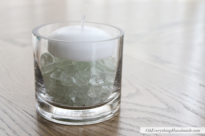Submersible Floral Candle by OhEverythingHandmade