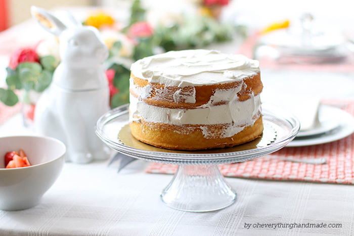 Floral Easter Table Setting - Layered cake