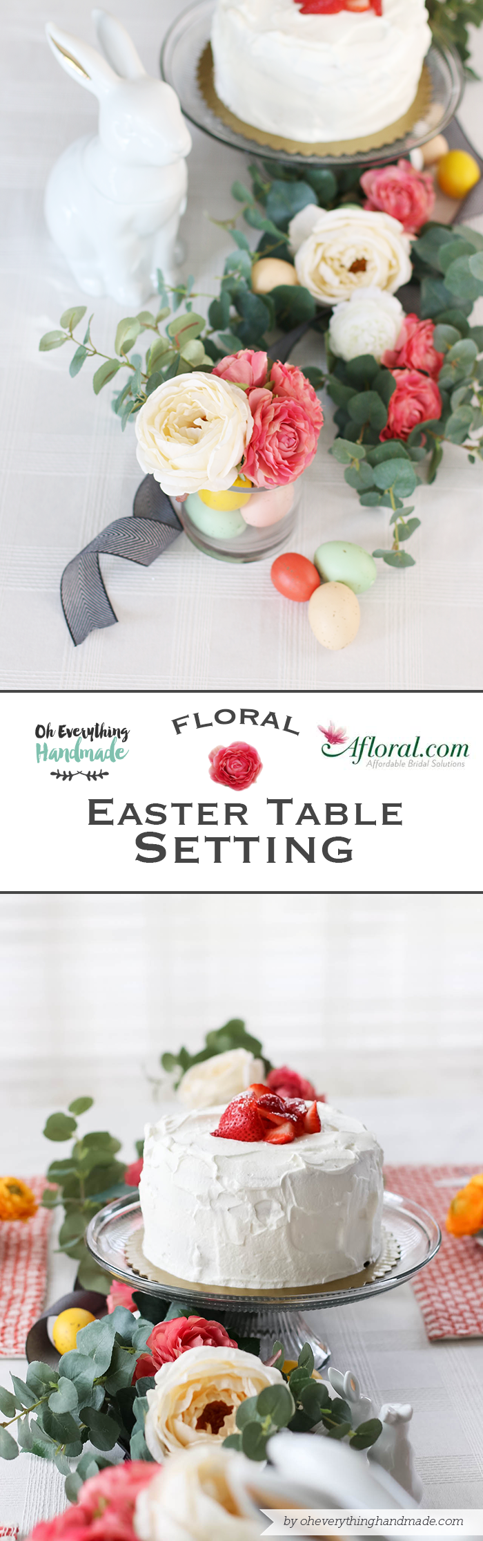 Floral Easter Table Setting - by oheverythinghandmade and afloral