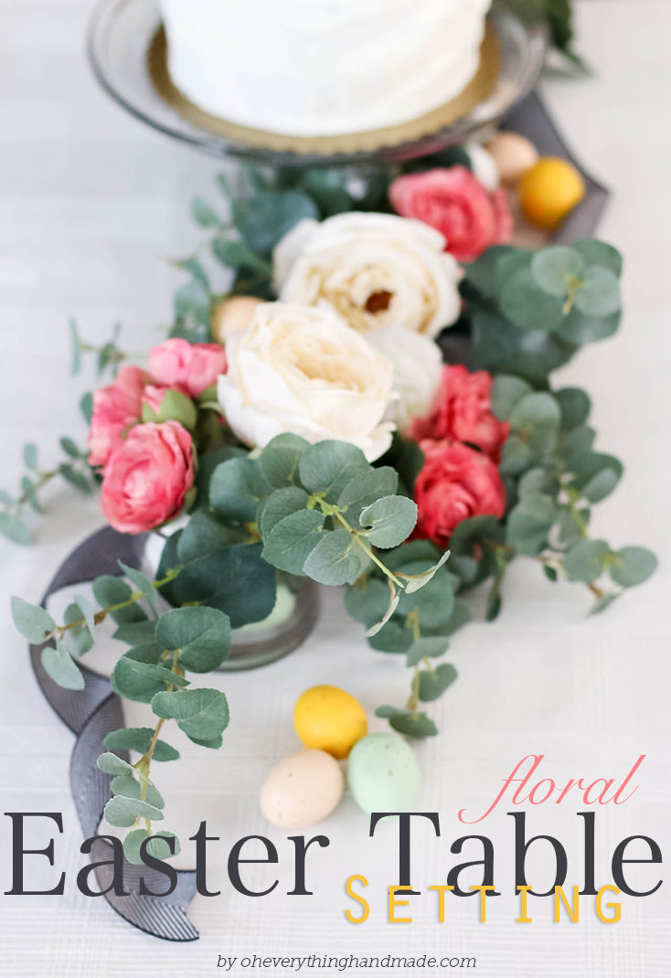 Floral Easter Table Setting by oheverythinghandmade