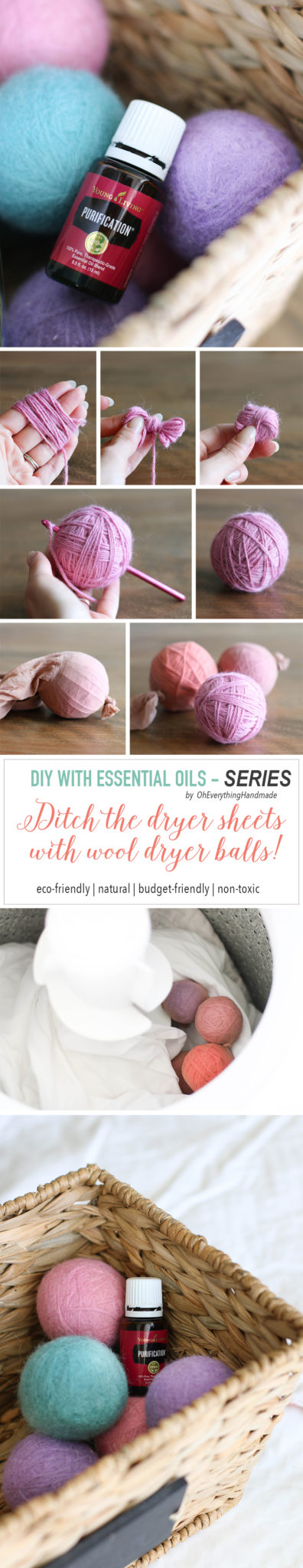 DIY with Essential Oils - Dryer balls tutorial