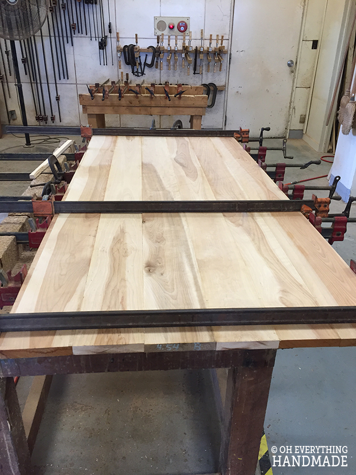 Dining Table with Apron - Corner brackets-Table top build