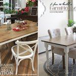 FarmHouse Table with Apron & Corner Brackets