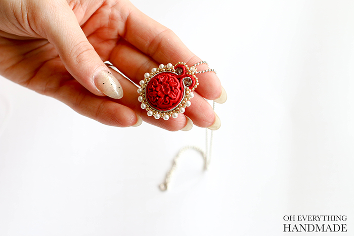 Soutache Necklace by OhEverythingHandmade- finished project