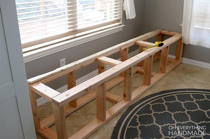 Kitchen Nook Bench Build In