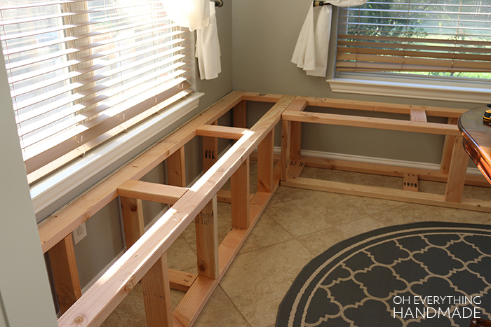 How To Build A Kitchen Nook Bench 187 Oh Everything Handmade