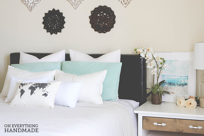 Romantic Bedroom Reveal - UncommonGoods Bedding1