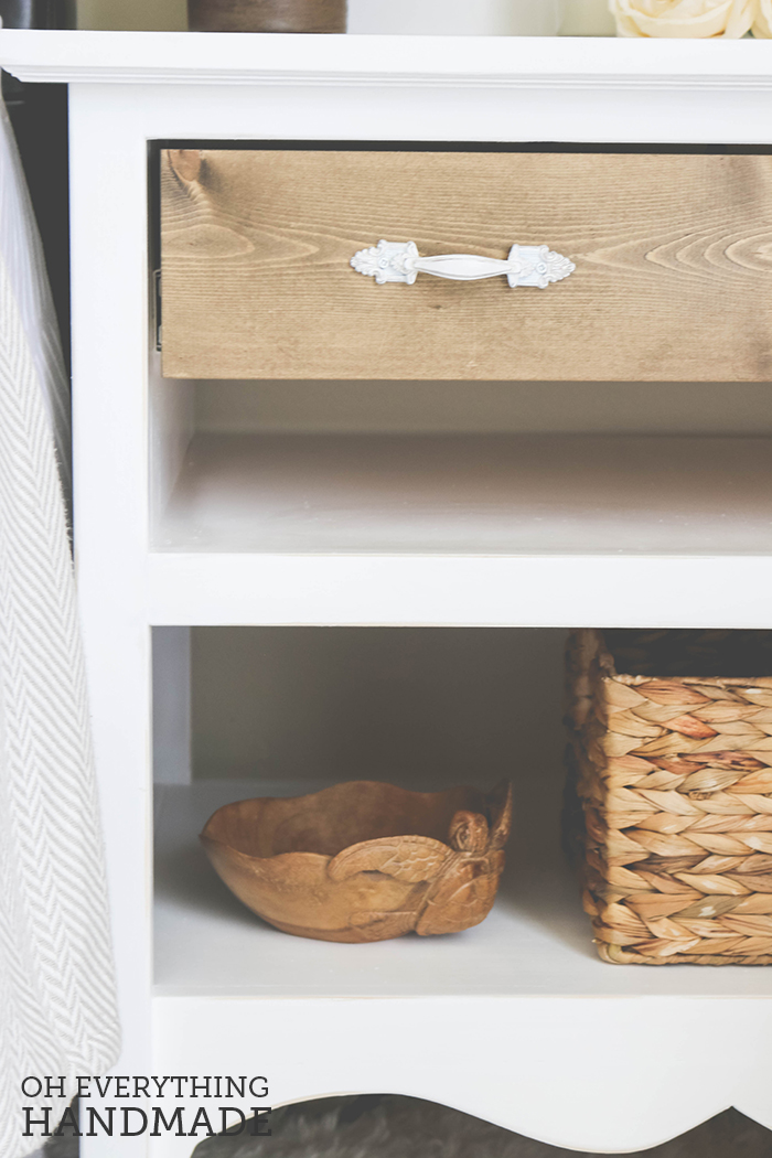Romantic Bedroom Reveal - UncommonGoods Side Table Goods