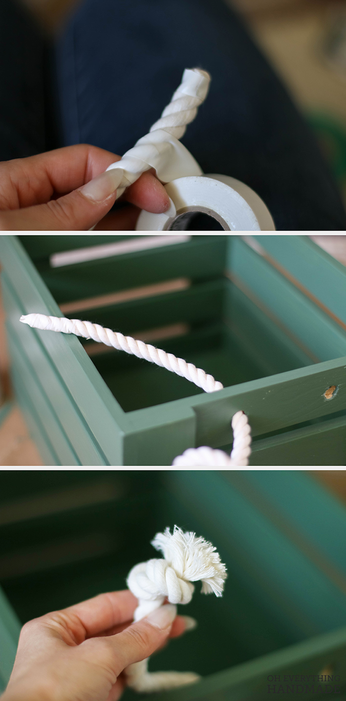Toy Crate - Add the rope