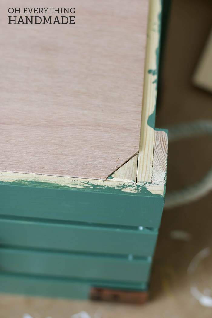 Toy Crate - Glue on a support board