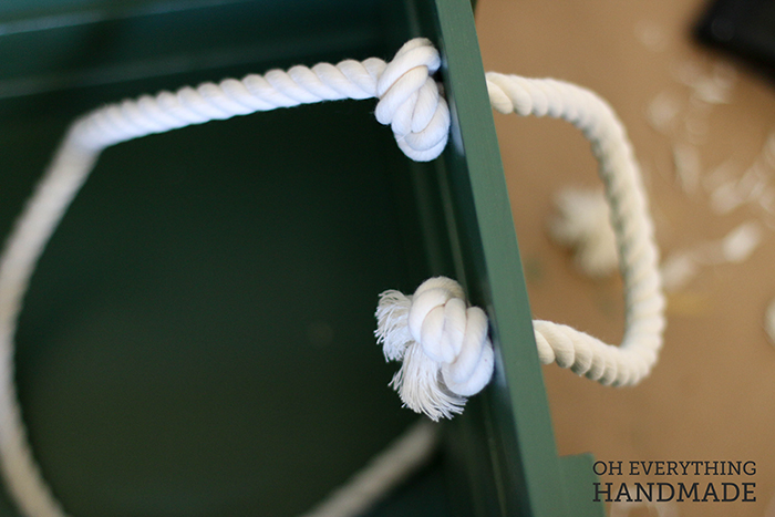 Toy Crate - knot the rope