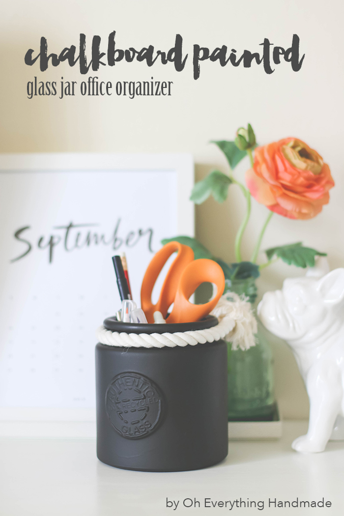 chalkboard painted glass jar - Featured Tutorial