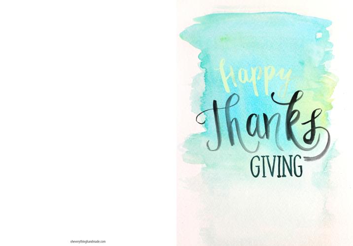 Thanksgiving Card Freebie