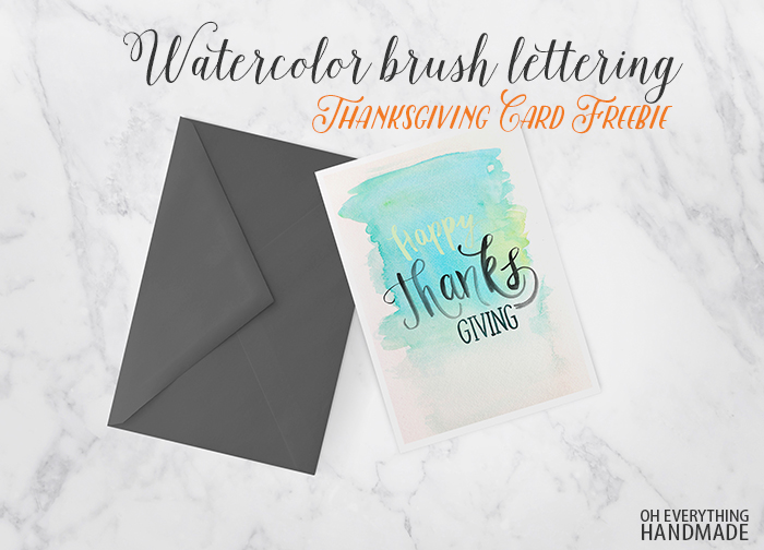 Watercolor Brush Lettering Thanksgiving Card copy
