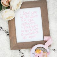 Baby Print - I love you to the moon