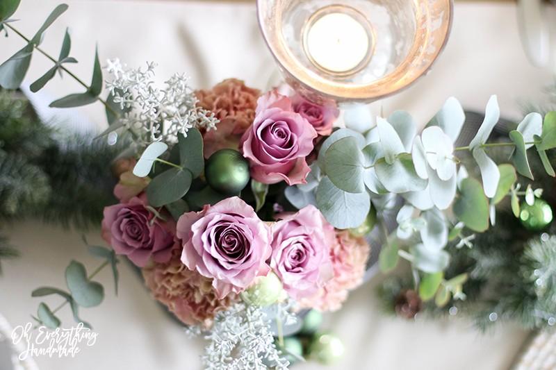 Christmas Table Blog Hop 2015 - oheverythinghandmade Floral Arrangement2