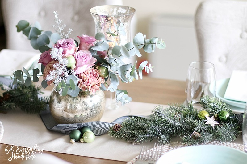 Christmas Table Blog Hop 2015 - oheverythinghandmade Plate Setting2