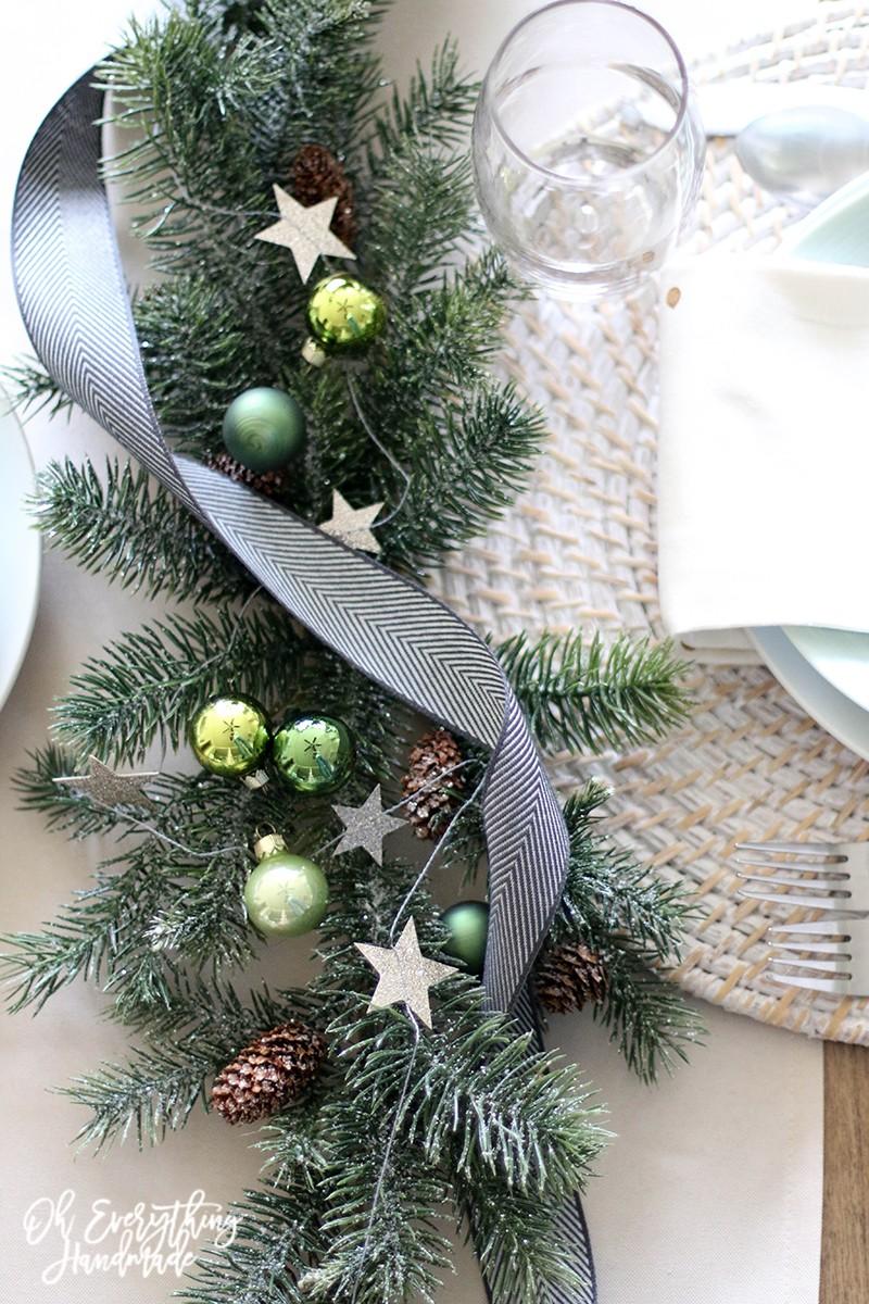 Christmas Table Blog Hop 2015 - oheverythinghandmade - Table top