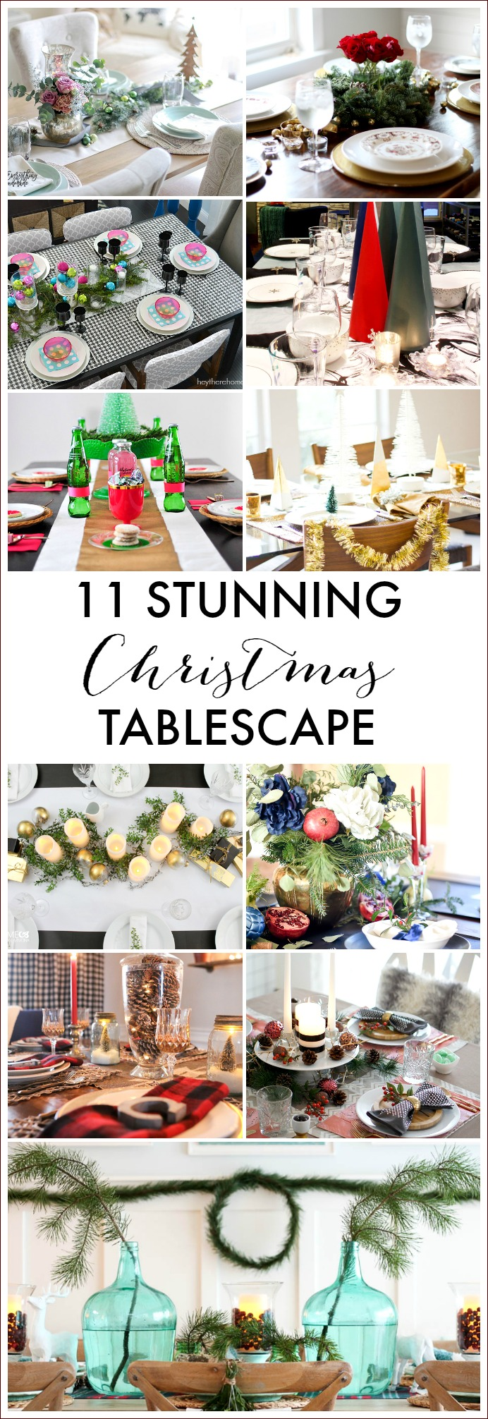 stunning Christmas tablescapes