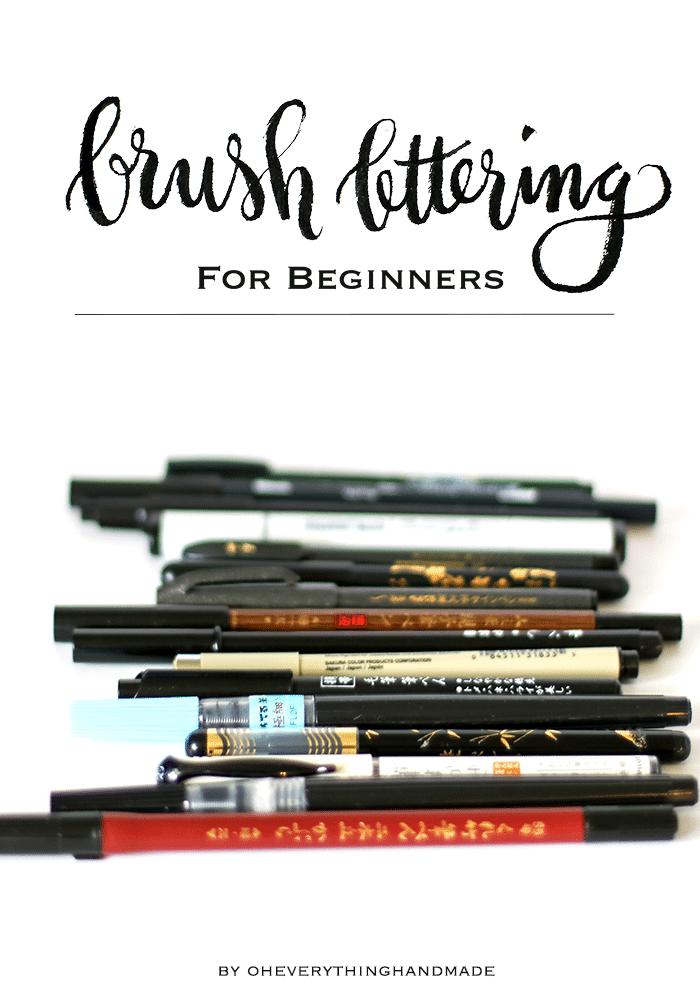 Brush Lettering for Beginners - for Pinning