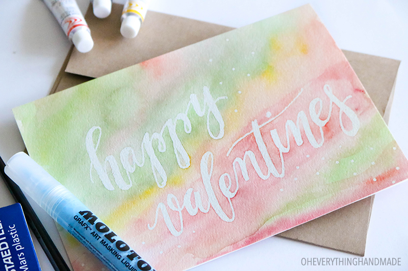 Watercolor Valentines Day Card - Card 5