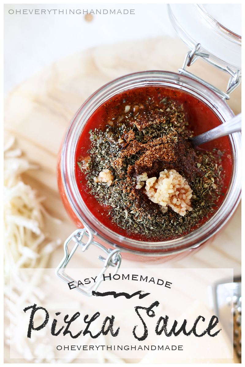 Easy Homemade Pizza Sauce - OEH-Featured