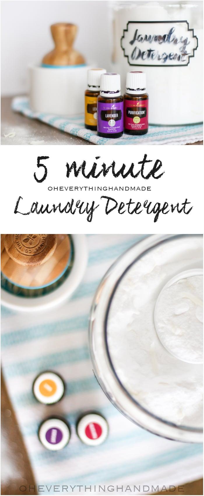 Laundry Detergent - with Essential Oils via Pinterest