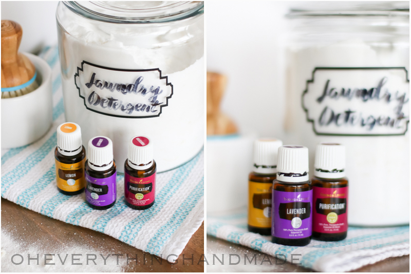 Essential oils for laundry detergent