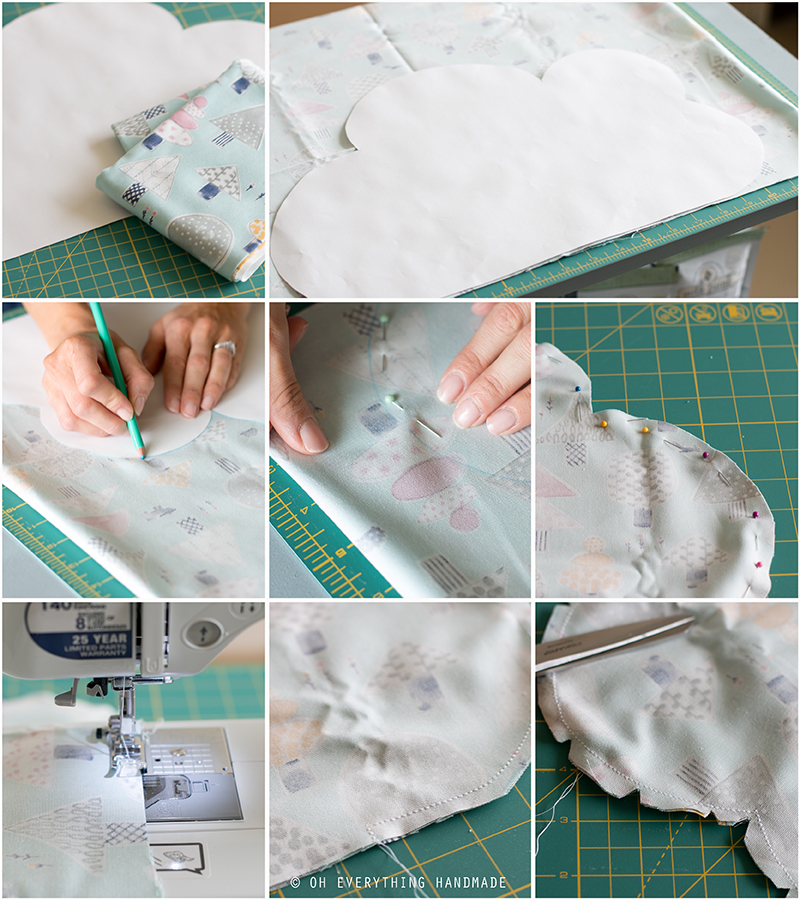 Sewing Project Fabric Cloud Pillow By Oheverythinghandmade