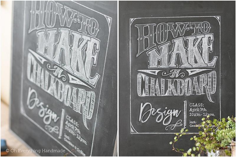 How to make a Chalkboard Design1 - Finished Chalkboard