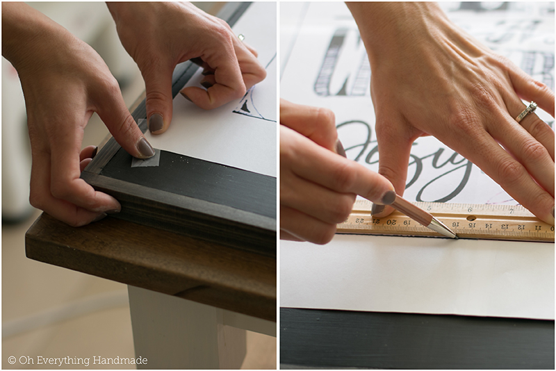 How to make a Chalkboard Design1 - applying the design to the board