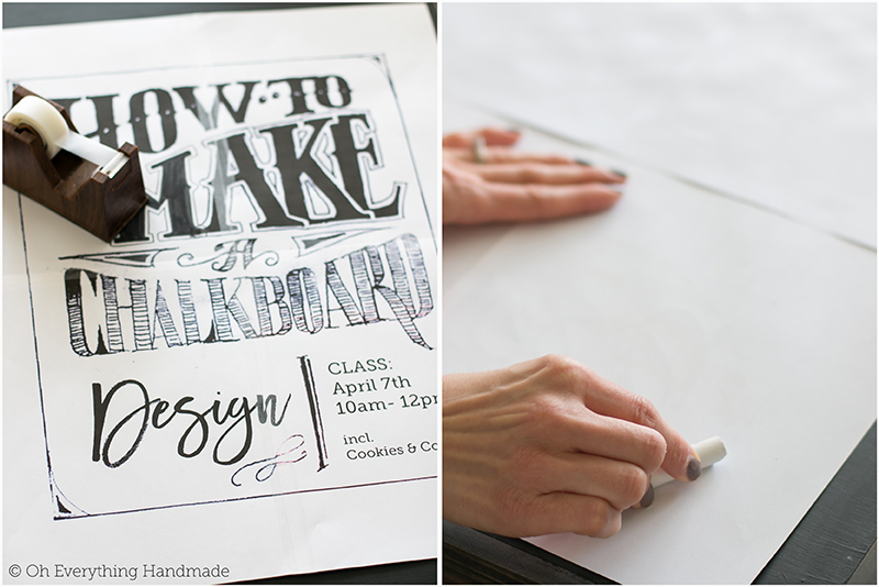 How to make a Chalkboard Design1 - printing the design