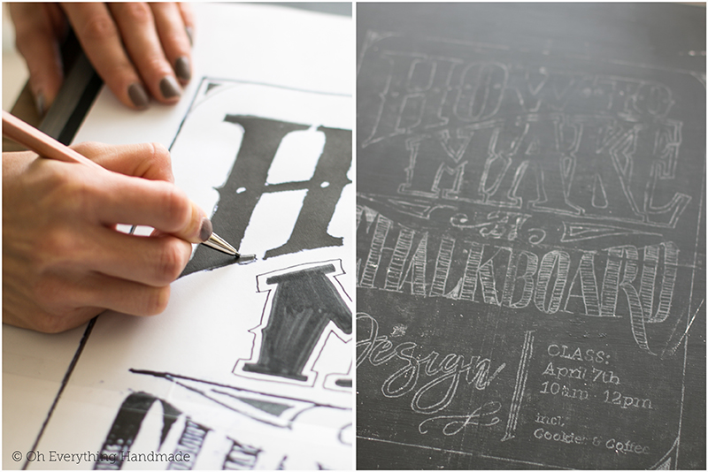 How to make a Chalkboard Design1 - transfering the design