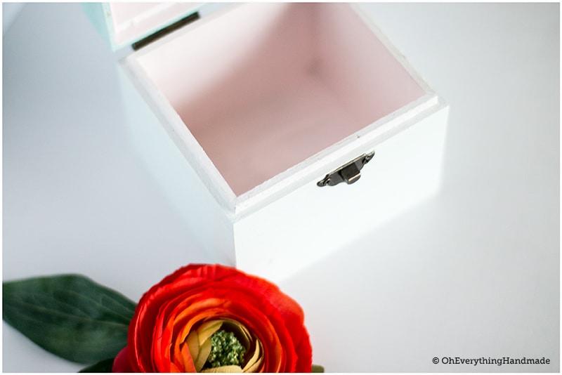 DIY Allowance box - inside the box